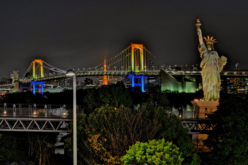Statue of Liberty, Rainbow Bridge