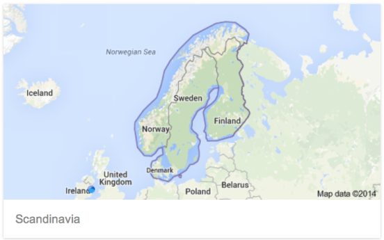 Finland, Sweden, Denmark, Norway